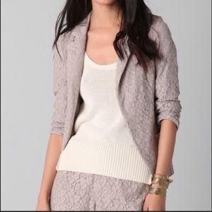 Rory Beca Soft Lace Blazer Taupe/Grey Medium
